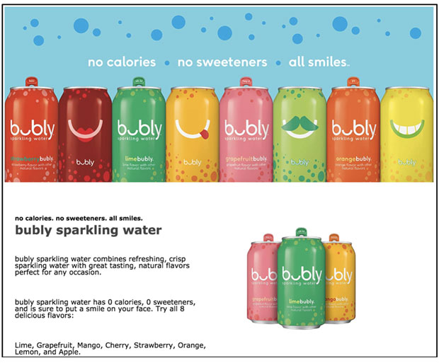 pepsico bubly sparkling water