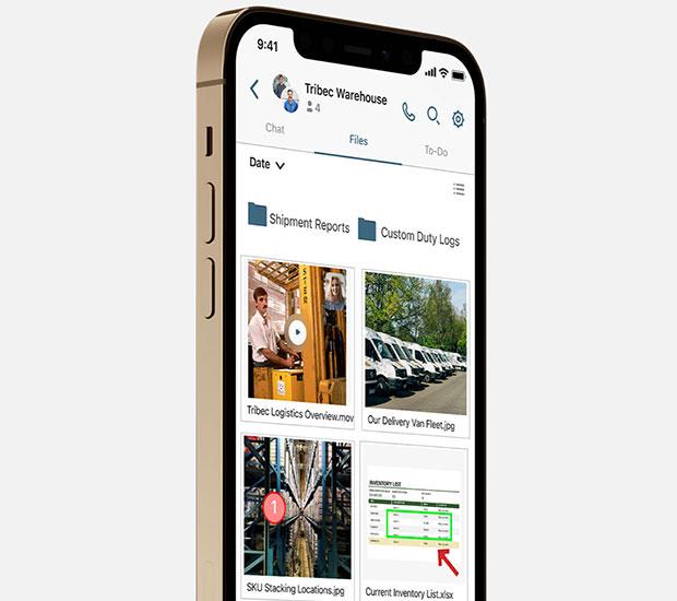 Aplicación móvil de marca privada Moxtra