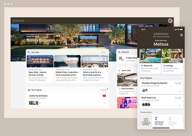 Portal móvil web de Moxtra