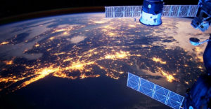 satellites in orbit over Earth